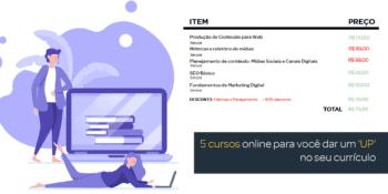 lista com 5 cursos online