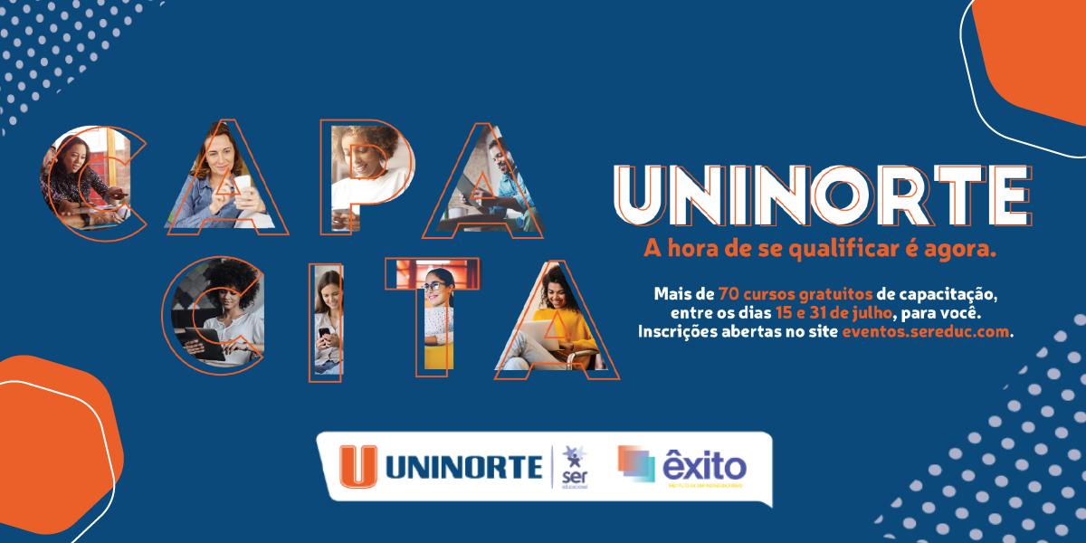 Mais de 60 mil vagas gratuitas em cursos de qualificação da UniNorte