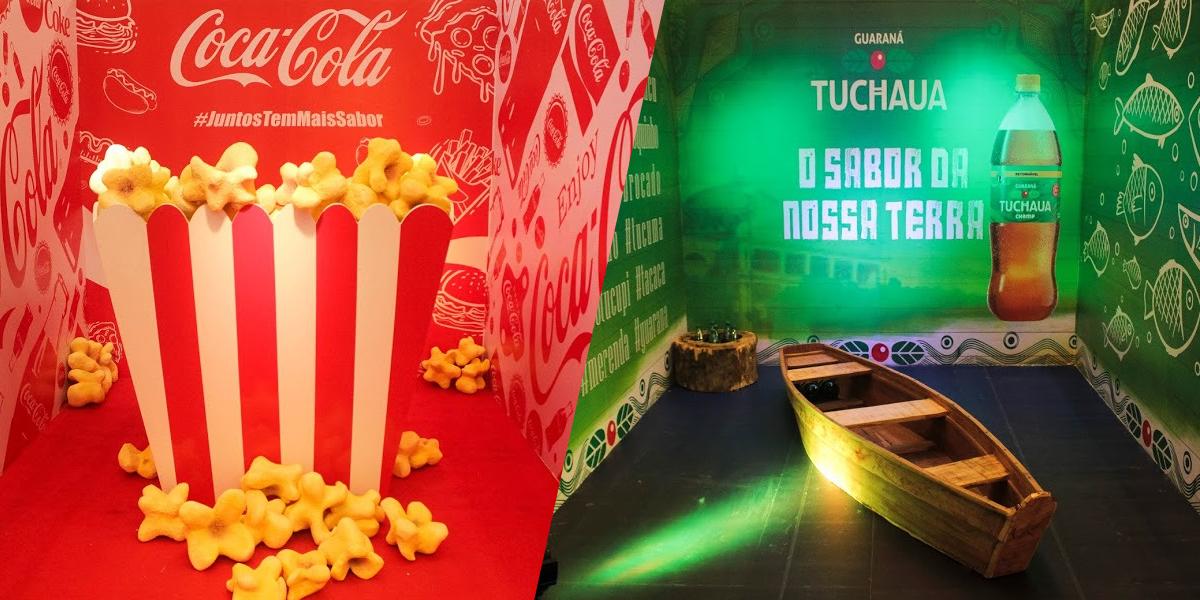 Coca-Cola e Tuchaua são temas de Exposição inédita de Cenários Instagramáveis