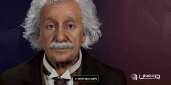 Converse com Einstein: site permite interações de usuários com a versão digital do físico