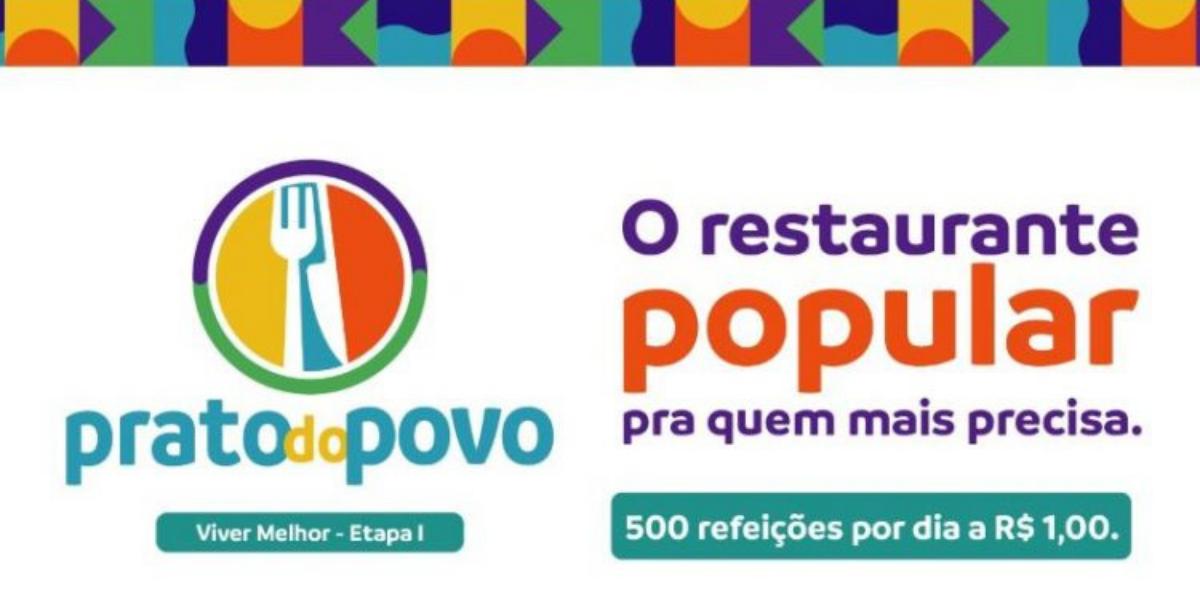 """Prefeitura inaugura o """"Prato do Povo"""", garantindo refeição a 500 pessoas por dia no valor de R$ 1,00"""